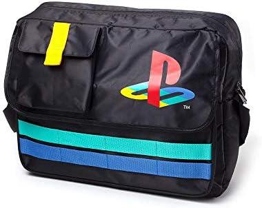 Difuzed Playstation Sac messager rétro avec logo Noir 35 cm