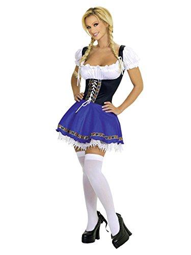 German Beer Garden Girl Costume (Beer Garden Girl Adult Costume Green - Small)