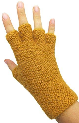 ハンドメイドPureアルパカ指なし手袋 – マスタード