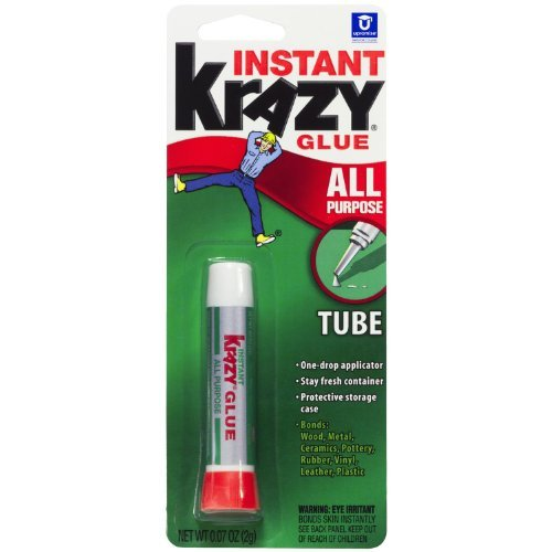 Krazy Glue KG58548R Instant Krazy Glue All Purpose Tube 0.07-Ounce by Krazy (0.07 Ounce Tube)
