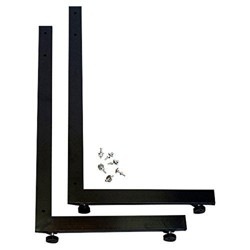 KC Store Fixtures 04308 Grid Legs L-Style, Pair, Black