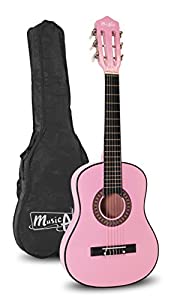 "Music Alley MA-51 Music Alley 1/2 Size 30"" Junior Classical Guitar, Pink"