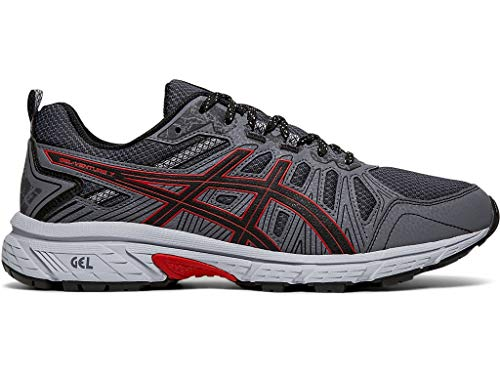 ASICS Men's Gel-Venture 7 Running Shoes, 10M, Black/Classic RED (Best Asics For Underpronation)