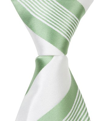 (Matching Tie Guy 5282 XG25-11 in. Zipper Necktie - White with Green Stripes44; 24 Month to 4T )