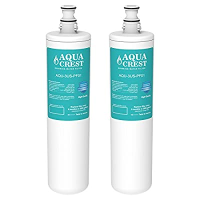 2 Pack AQUACREST 3US-PF01 Replacement for Filtrete Advanced 3US-PF01 (Not 3M 3US-AF01), Delta RP78702, Manitowoc K-00337, K-00338 Water Filter