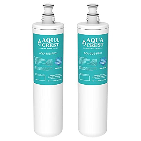 2 Pack AQUACREST 3US-PF01 Replacement for Filtrete Advanced 3US-PF01 (Not 3M 3US-AF01), Delta RP78702, Manitowoc K-00337, K-00338 Water (Delta Sink Cartridge)