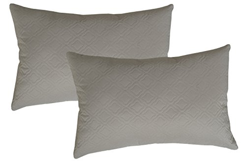 Edie 3757D-2 Grey Sonic Florentine Decorative Pillow 2 Pack,Grey,13x20