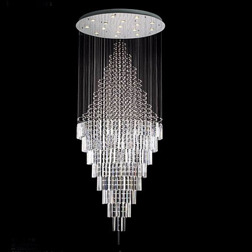 "NEW ! Modern Contemporary Chandelier ""Rain Drop"" Chandeliers H 100″ W 41″ (Over 8ft Tall!)"