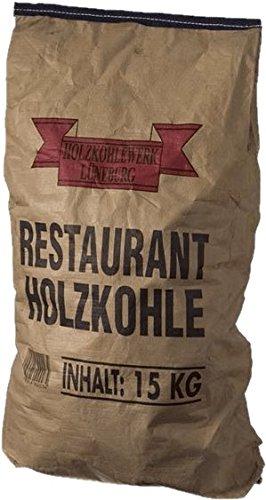 HOLZKOHLE 15KG – Profi-Steakhouse-Grillkohle Quebracho Blanco & Viñal – Restaurant-Holzkohle mit extra langer Brenndauer…