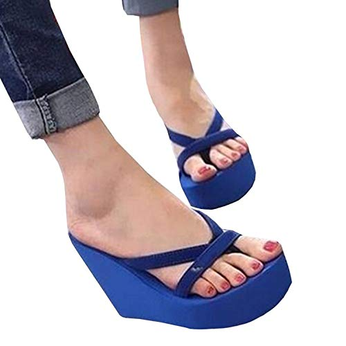 Wedges Women Shoes Fashion Outdoor Flops Summer Blue Slippers Flip Casual Meilidress Platform gKR4nWWc
