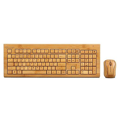 - SNGU SG-KG308-N+MG93-N 2.4GHz Full Bamboo Handmade Wireless Keyboard and Mouse Combo(3 Key Pads)