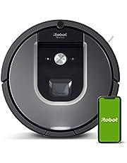 iRobot Roomba 960 Robotstofzuiger met wifi-verbinding met dubbele rubberen borstels voor alle vloertypen - Ideaal voor huisdieren - Laadt zichzelf op en gaat vervolgens verder -