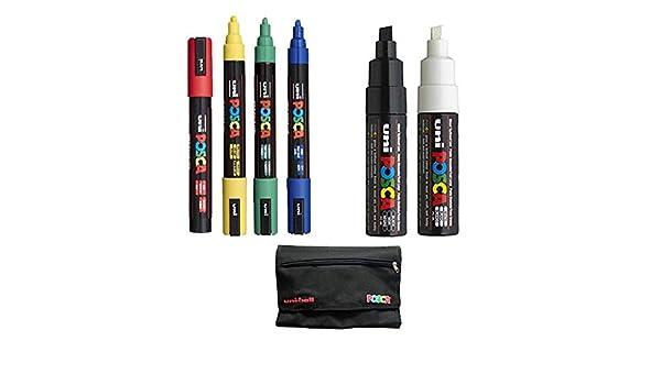 Pack 6 rotuladores POSCA + 1 estuche de regalo: Amazon.es: Oficina ...