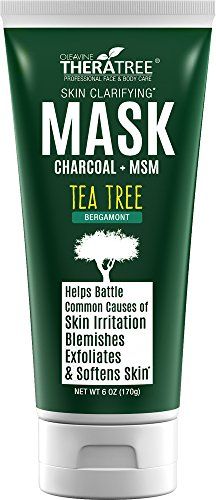 (Clarifying Mud Mask with Dead Sea Minerals, Activated Charcoal & Tea Tree for Face & Body - by Oleavine TheraTree)