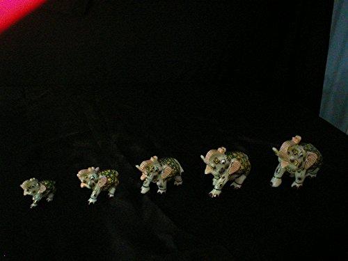 Malvia Exports Elephants Green 5 Pieces