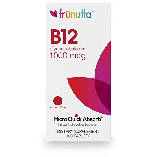 Frunutta Vitamin B12 Cyanocobalamin 1000 mcg, 100 Instant Dissolve Tablets