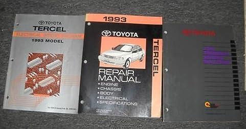 1993 toyota tercel electrical wiring diagrams service shop repair rh amazon com