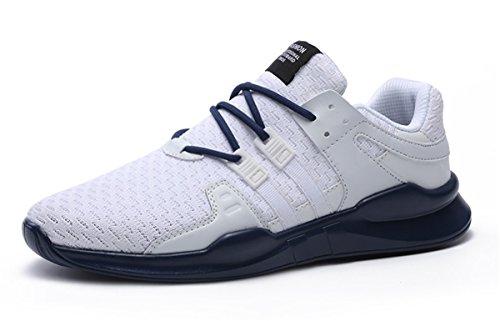 intervensión hombre al aire la Athletic de última running malla Sneakers de Moda para a transpirable Blanco Deportes zapatillas Azul Casual beeagle fqZC7