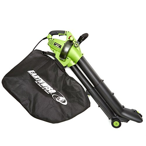 EarthWise 12-Amp Corded 3-in-1 Wheeled Blower, Vacuum Mulcher - Green by EarthWise