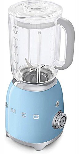 Smeg BLF01PBUS Retro Style Blender with 6 Cups Tritan BPA-Free Jug, Detachable Stainless Steel Dual Blades, Overload Motor Protection, 4 Speeds and 3 Preset Programs in Pastel Blue