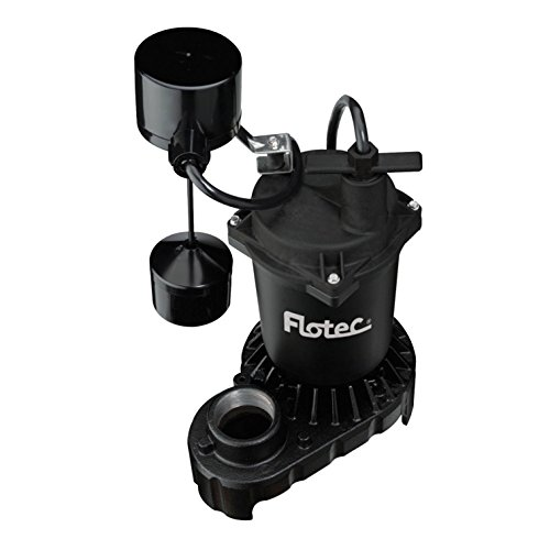 SUMP PUMP1/2HP FLOAT by FLOTEC MfrPartNo (Flotec 1/2 Hp Cast Iron)