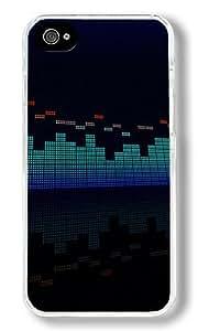 Hanifa Dirar Hadad's Shop 6803654M89760761 Equalizer Custom iPhone 4S Case Back Cover, Snap-on Shell Case Polycarbonate PC Plastic Hard Case Transparent