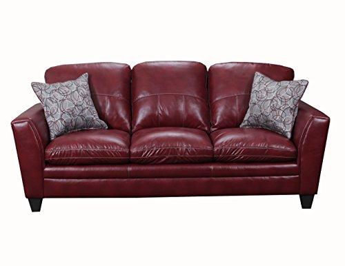 Simmons Upholstery 8165-03 Medusa Wine Medusa Sofa