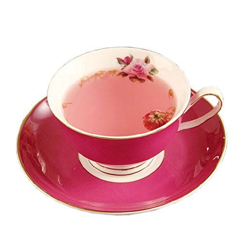 Elegant Coffee Cup Beautiful Gold Line Cafe/Home-Use Tea Cup RED