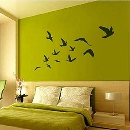 amazon com seedworld wall stickers large size pretty birds
