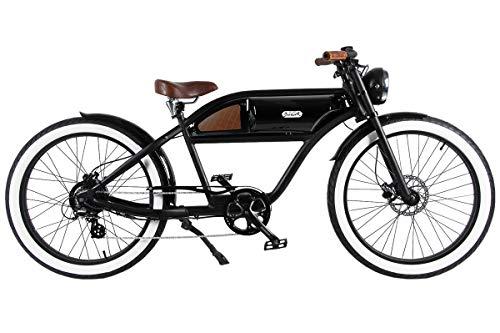 T4B Michael Blast Greaser Retro eBike Electric Bicycle Bike 26″ 500W 48V – Bk/Bk For Sale