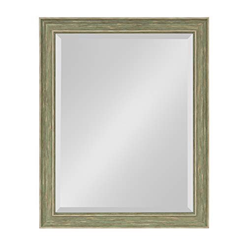 Kate and Laurel Harvest Decorative Framed Wall Mirror, 21.5x27.5 Inches, Rustic Green (Rustic Dresser Green)