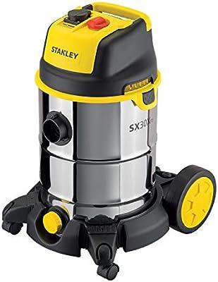 STANLEY 51695 Aspiradora con depósito 30 L, 1600 W, Negro, Acero ...