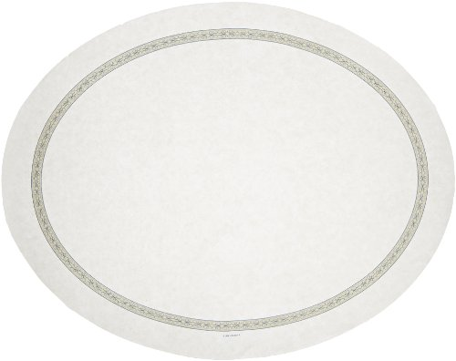 Hoffmaster 428970 Oval Nonskid Traymat, 24'' Length x 19'' Width, Regal (Case of 500) by Hoffmaster