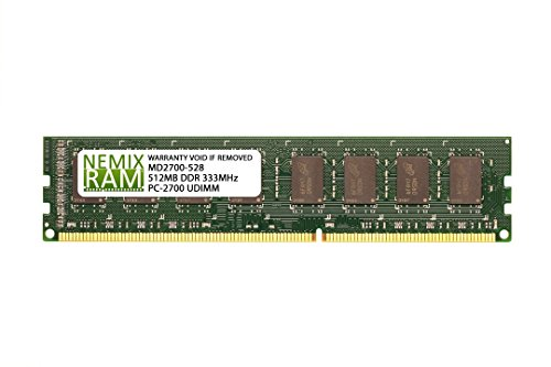 - 512MB DDR 333MHz PC2700 184-PIN Memory RAM DIMM for Desktop PC