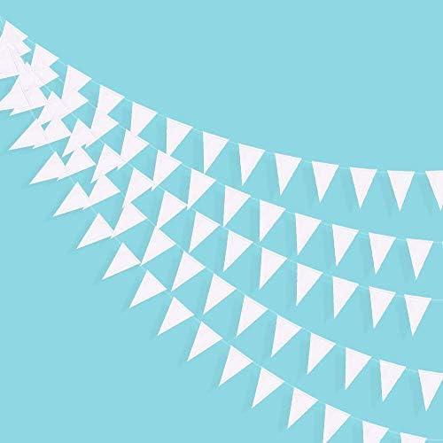 40Ft Triangolo Doro Bandiere Banner Doppio lato Carta Metallizzata Gagliardetto Stamina Ghirlanda per Matrimonio Baby Bridal Shower Compleanno Addio al Nubilato Anniversario Forniture per Feste