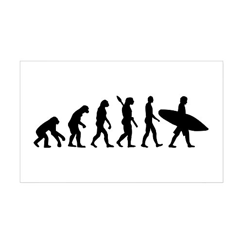CafePress Evolution surfing Sticker Rectangle