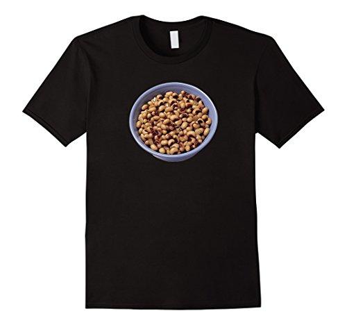 Mens Black-eyed Peas Beans Funny Pun Halloween Costume T-Shirt XL Black