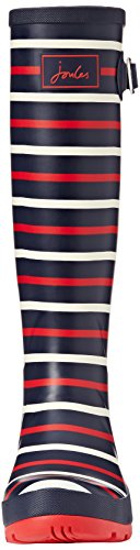 Joule Kvinners Welly Print Regn Støvel Navy London Stripe