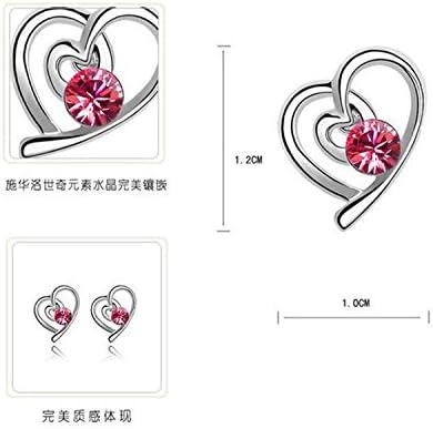 Kanggest Collier Bijoux Collier en cristal damour Parure Bracelet Collier Boucles dOreilles pour femme compos/és
