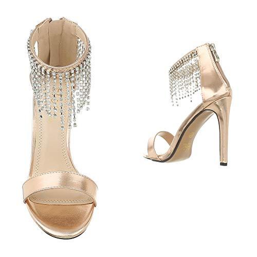 design Ital A Rosa Collo 104 Alto Donna Hp Gold 1ddrB