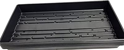 "6 Plant Growing Trays (WITH Drain Holes) - 20"" x 10"" - Perfect Garden Seed Starter Grow Trays: For Seedlings, Indoor Gardening, Growing Microgreens, Wheatgrass & More - Soil or Hydroponic"