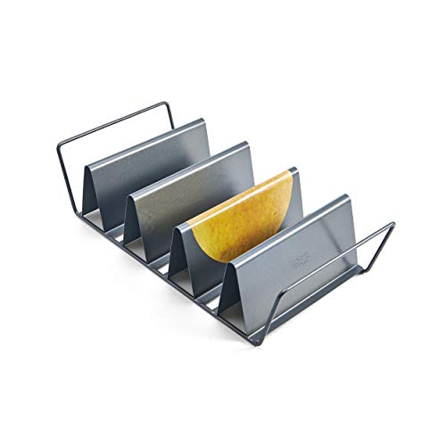 Chicago Metallic Professional 6-Shell Baked Taco Rack, 15-Inch-by-7-Inch (Renewed) (Chicago Metallic Non Stick Large Tortilla Shell Pans)