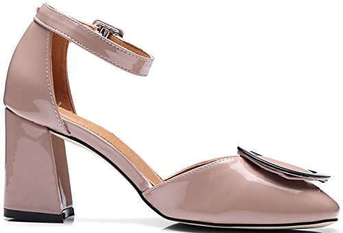Calaier Womens Salsx Sandalo Tacco Alto 6 Cm Con Tacco E Fibbia Scarpe Rosa
