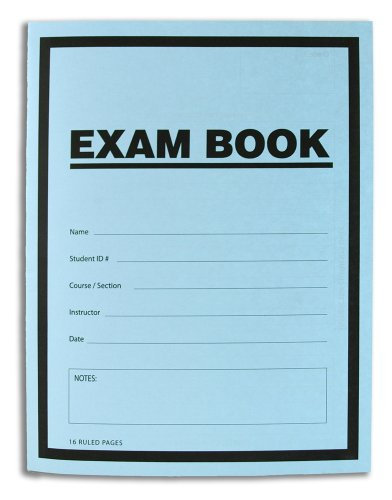 Bookfactory Exam Blue Book   Blue Exam Book   Blue Test Book  10 Book Pack   Ruled Format   8 5  X 11    16 Numbered Pages  Saddle Stitched  Lab 016 7Rss  Exam Book 10 Pk