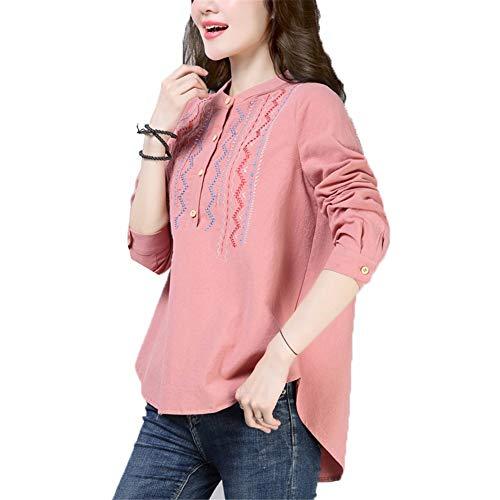2018 Algodón Corto Larga Antes Mujeres Camisa Camiseta Manual Sweatshirt Con Madre Sdf Capucha Y Primavera Rosado Suelto De Sudaderas Manga Otoño Párrafo PUO0xAq
