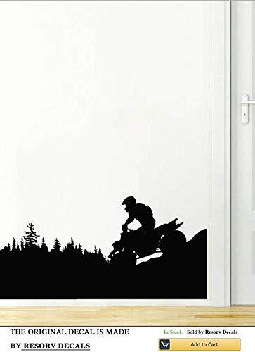 (Wall Decal ATV Quad Bike Quadrocycle ATV Race Motor Four Wheeler ATV Extreme Sport Bike Racing Rider TT6493)