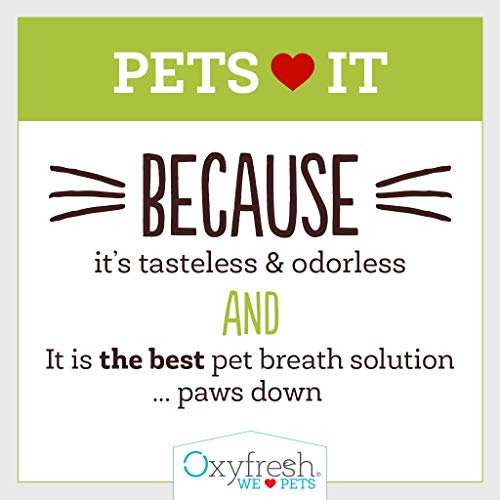 Oxyfresh Premium Pet Dental Care Solution (16oz): Best Way To Eliminate Bad Dog Breath & Cat Breath - Fights Tartar, Plaque & Gum Disease! - So easy, just add to water! Vet Recommended! by Oxyfresh (Image #7)