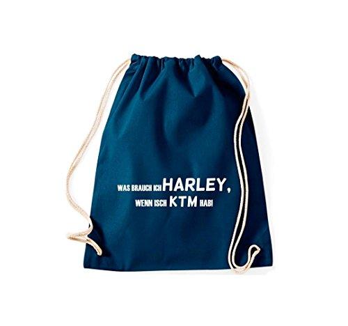 Turn Bolsa; Rompa Was Ich Harley, Si isch KTM hab., rosa, 46 azul marino