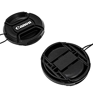 55mm Lens Cap for Canon Replaces E-55 II - Black (Tamaño: 55mm)
