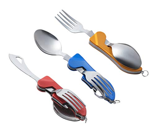 Camping & Hiking 3-in-1 Multi Functional Utensil Detachable Cutter Fork Salad Clip Food Cutlery Tongs Tableware Flatware Outdoor Picnic Bbq New High Resilience